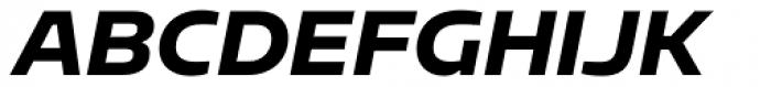 Sarun Pro Heavy Italic Font UPPERCASE