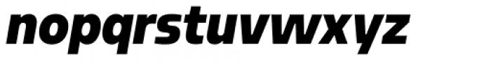 Sarun Pro Narrow Black Italic Font LOWERCASE
