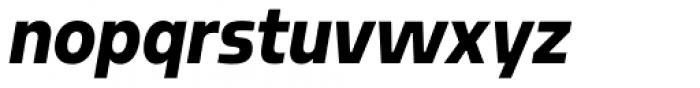 Sarun Pro Narrow Heavy Italic Font LOWERCASE