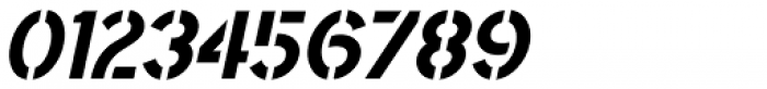 Saskatoon Stencil Oblique JNL Font OTHER CHARS