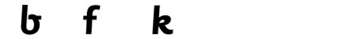 Sassoon Primary Bold Alternate Font LOWERCASE
