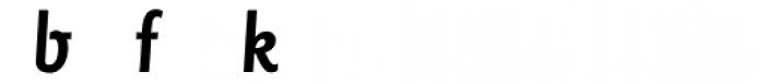 Sassoon Primary Medium Condensed Alternate Font LOWERCASE