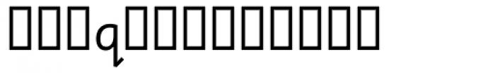 Sassoon Sans Alt Font LOWERCASE