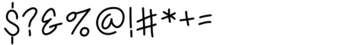 Sassy Medium Font OTHER CHARS