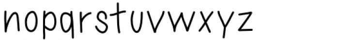 Sassy Medium Font LOWERCASE