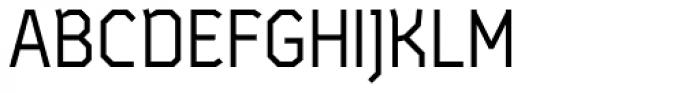 Satellite PT Regular Font UPPERCASE