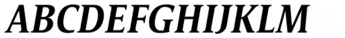 Satero Serif Pro Medium Italic Font UPPERCASE