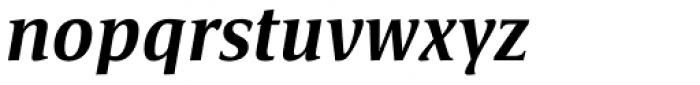 Satero Serif Pro Medium Italic Font LOWERCASE