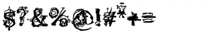 Satron Jumbled Font OTHER CHARS