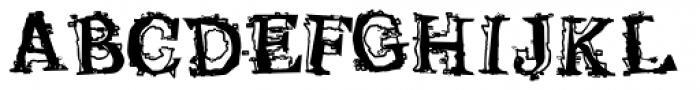 Satron Jumbled Font UPPERCASE