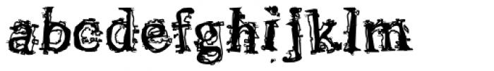 Satron Jumbled Font LOWERCASE