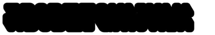 Saturday Night Interlock Extrude Font LOWERCASE