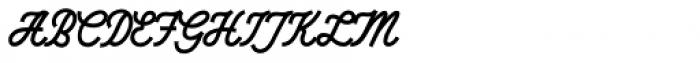 Saturday Night Script Regular Font UPPERCASE