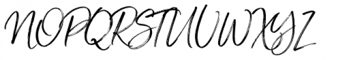 Saturday Script Oblique Font UPPERCASE