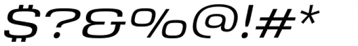 Saturn Extended Light Italic Font OTHER CHARS