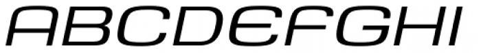Saturn Extended Light Italic Font UPPERCASE