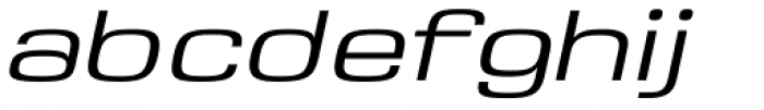 Saturn Extended Light Italic Font LOWERCASE