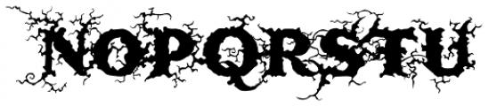 Saugatuck Natural Font UPPERCASE