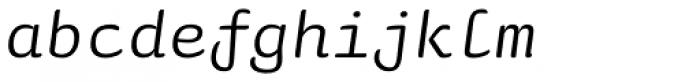 Sauna Mono Pro Italic Font LOWERCASE