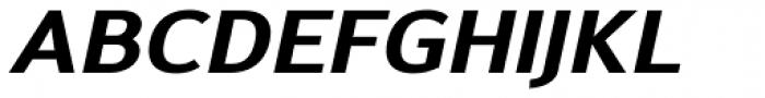 Savile ExtraBold Italic Font UPPERCASE