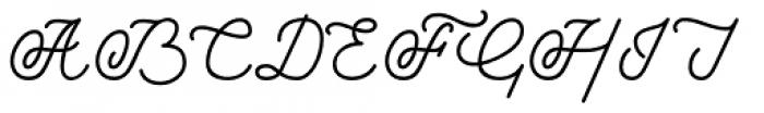 Savoiardi Script Font UPPERCASE