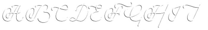 Savoiardi Shadow Script Font UPPERCASE