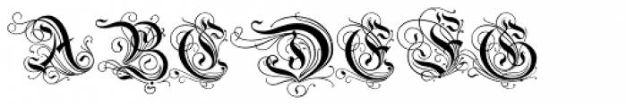Savoy Font UPPERCASE