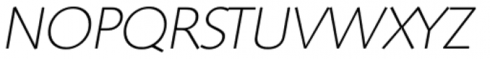 Saxony Serial ExtraLight Italic Font UPPERCASE