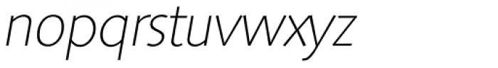 Saxony Serial ExtraLight Italic Font LOWERCASE
