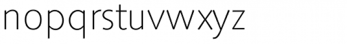 Saxony Serial ExtraLight Font LOWERCASE
