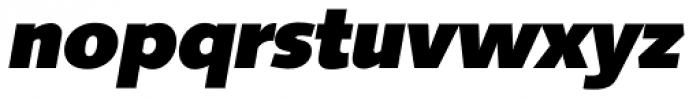 Saxony Serial Heavy Italic Font LOWERCASE