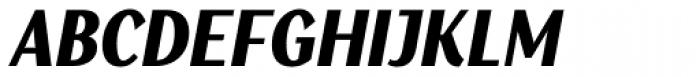 Saya SemiSans FY Black Italic Font UPPERCASE