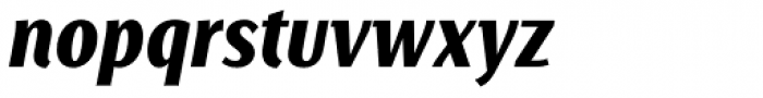 Saya SemiSans FY Black Italic Font LOWERCASE