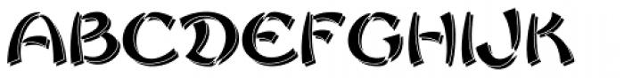Sayonara Reverse Shadow Font UPPERCASE