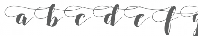 SALSABILLA SWASHES Font LOWERCASE