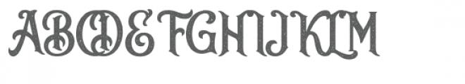 Sacred Bridge Letterpress Font UPPERCASE