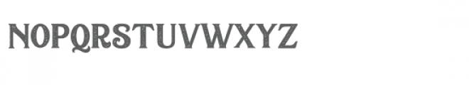 Sacred Bridge Letterpress Font LOWERCASE