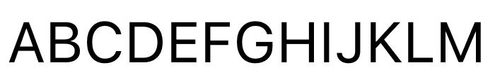 San Francisco Text Font UPPERCASE