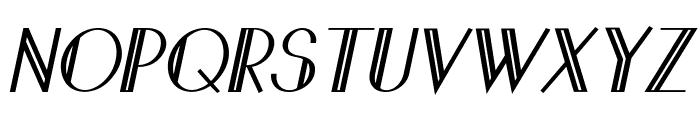 Sandervole-BoldItalic Font UPPERCASE