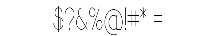 Sandervole-CondensedRegular Font OTHER CHARS