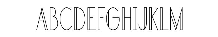 Sandervole-CondensedRegular Font UPPERCASE