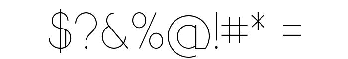 Sandervole Font OTHER CHARS