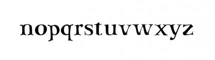Sav Display (plain) Font LOWERCASE