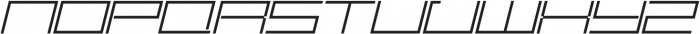 SB Carbon Extrawide Light Italic otf (300) Font UPPERCASE