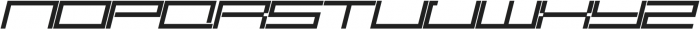 SB Carbon Ultrawide Regular Italic otf (400) Font UPPERCASE