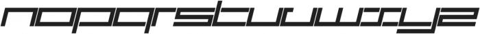 SB Carbon Ultrawide Regular Italic otf (400) Font LOWERCASE