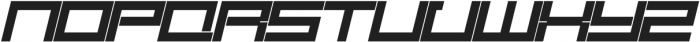 SB Carbon Wide Bold Italic otf (700) Font UPPERCASE