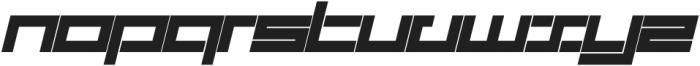 SB Carbon Wide Bold Italic otf (700) Font LOWERCASE