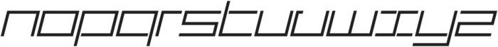 SB Carbon Wide Light Italic otf (300) Font LOWERCASE