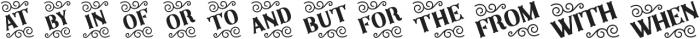 SB Catchwords otf (400) Font LOWERCASE